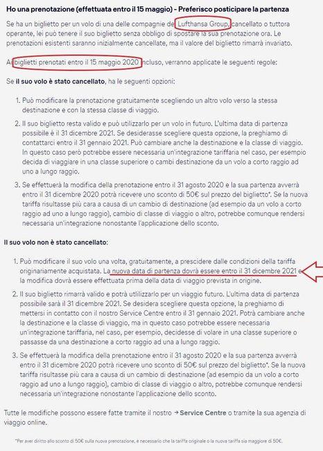 Lufthansa cambia politica, rinviare al 2021 i voli del 2020 (prenotati entro maggio) 1