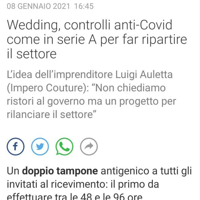 Doppio tampone per far ripartire il wedding? 1