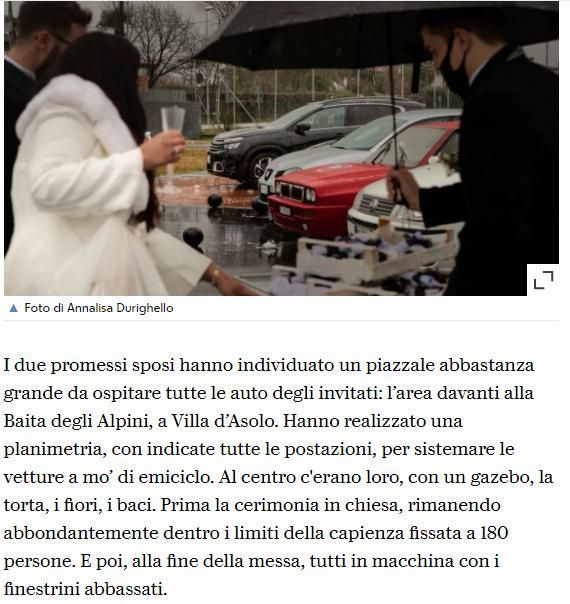 Prima festa di matrimonio drive-in ai tempi del covid anche in Italia, con 130 invitati 3