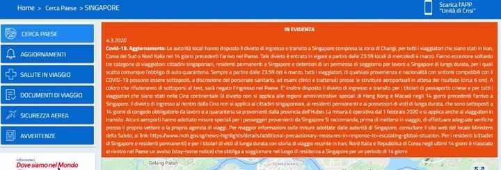 Singapore blocca il nord Italia; Borneo (ml) tutta Italia - 1