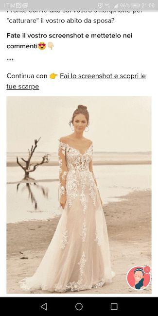 Fai lo screenshot e scopri il tuo abito da sposa 22