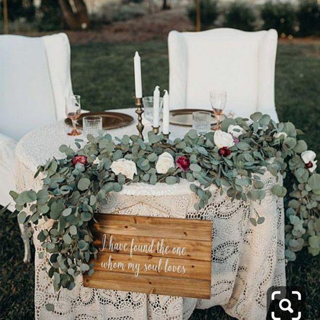 Il tavolo degli sposi - 1