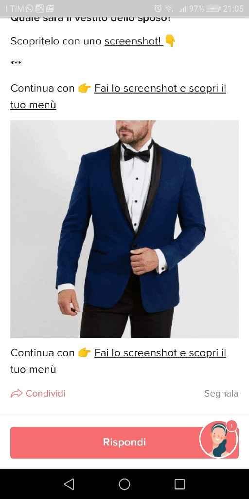 Fai lo screenshot e scopri il vestito dello sposo - 1