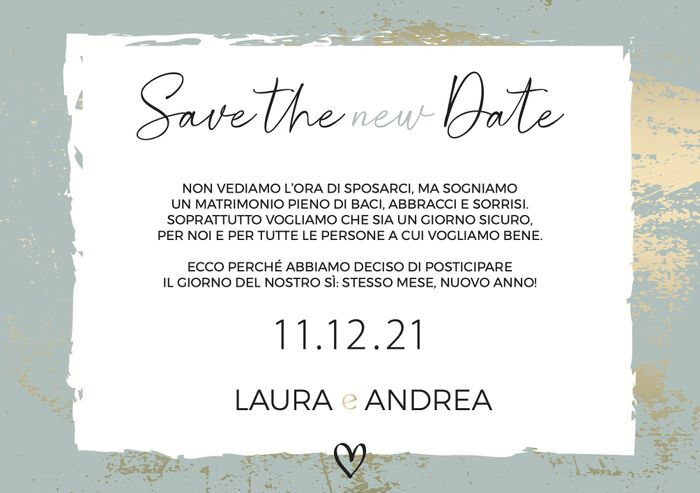 Save the (new) date inviato! - 1