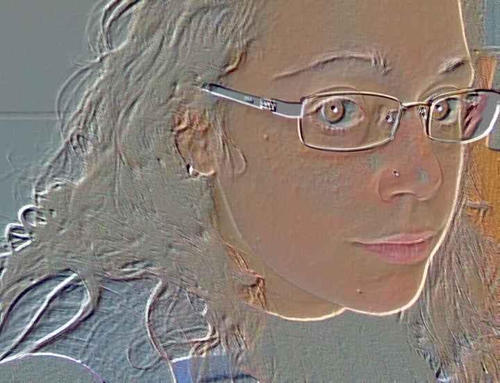 Io con i miei occhiali da sposa!