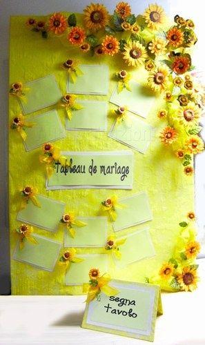 Tableau Matrimonio Girasoli : Tableau tema girasoli organizzazione matrimonio forum