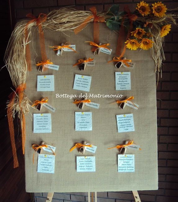 Segnaposto Matrimonio Con Girasoli : Tableau tema girasoli pagina organizzazione
