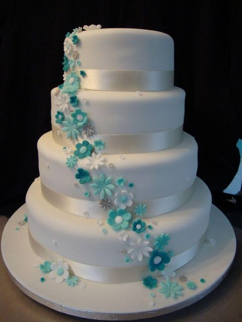 turquoise blue and white wedding cakes l esplosione forum matrimonio 21306
