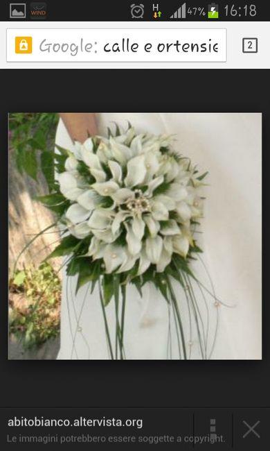 Bouquet bianco e verde - 6