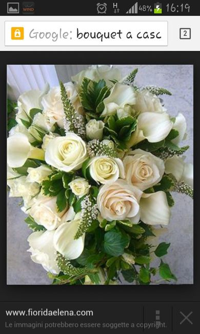 Bouquet bianco e verde - 9