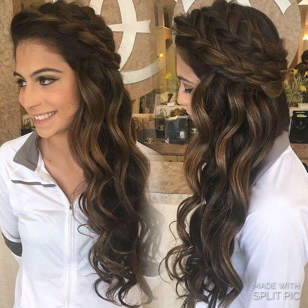Acconciature sposa capelli lunghi scuri