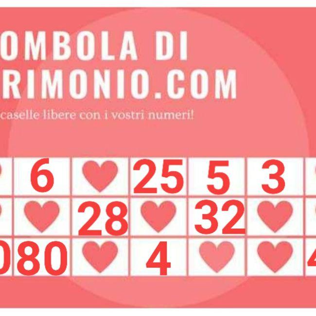 Gioca con i tuoi numeri alla Tombola di Matrimonio.com 6