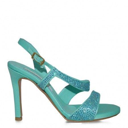 Roma Cerco A Con Brillantini On O Line Scarpe Moda Tiffany Color 3qRAc54jL