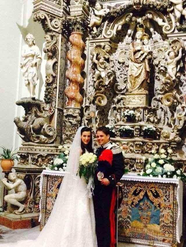 Io e mio marito dentro al Santuario