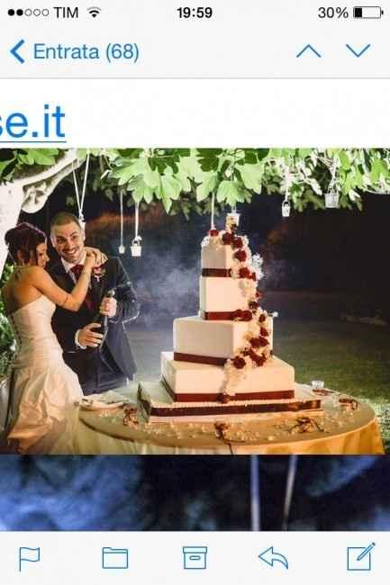 torta rossa e bianca