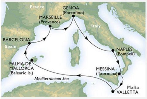 viaggio di nozze - crociera mediterraneo