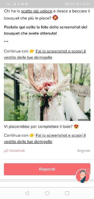 Fai lo screenshot e scopri il tuo bouquet 6