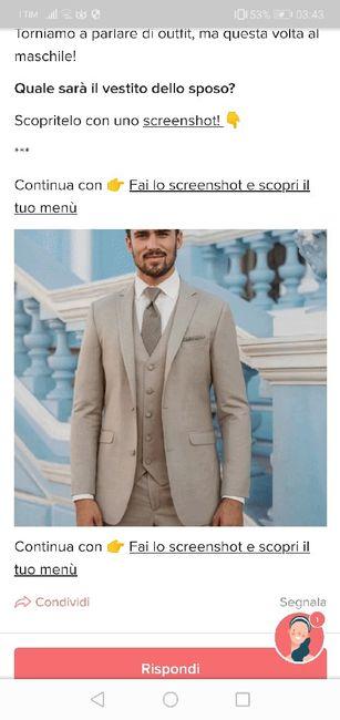 Fai lo screenshot e scopri il vestito dello sposo 7