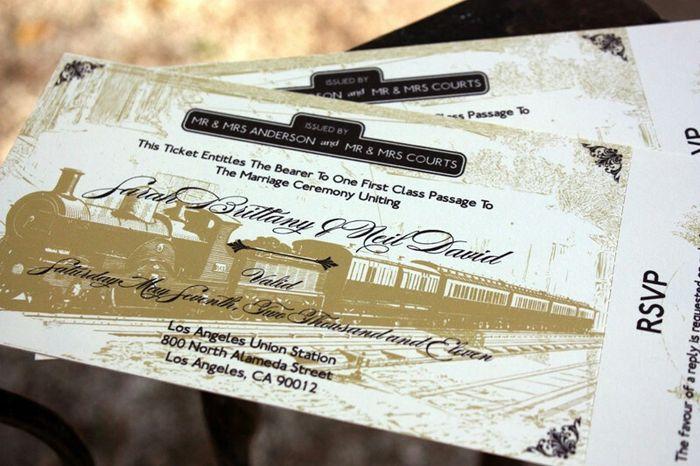Matrimonio Tema Treno : Partecipazioni biglietto treno pagina