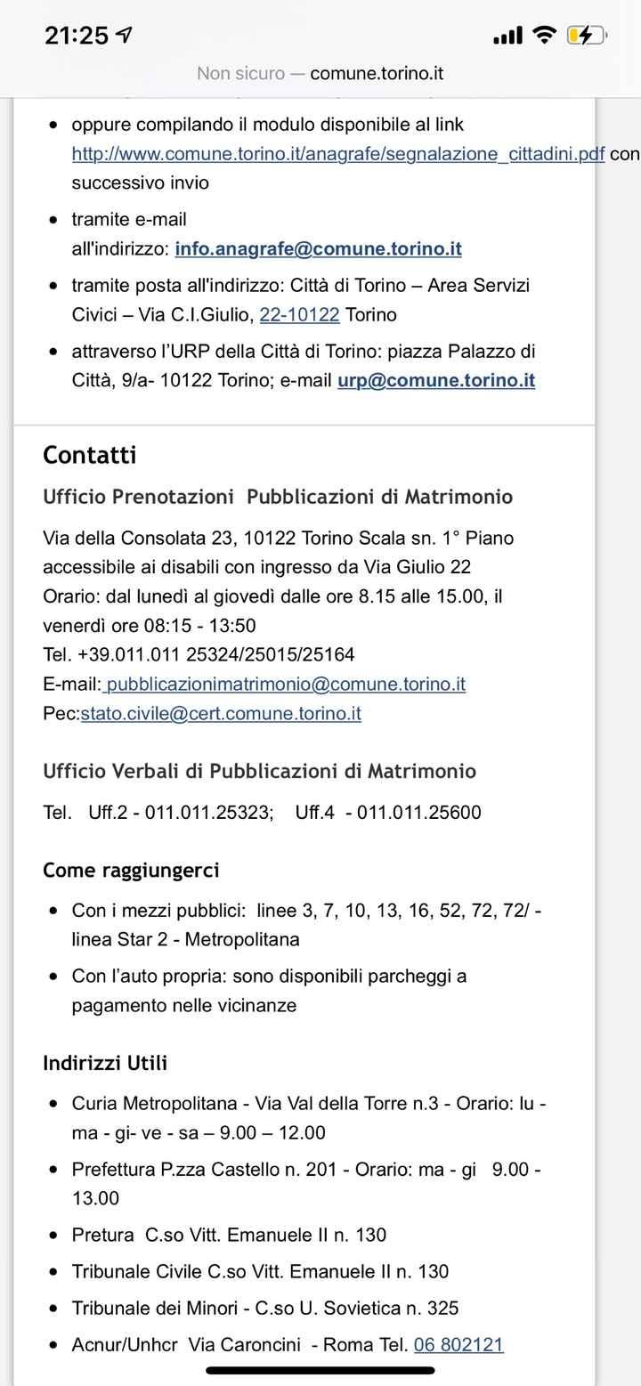 Pubblicazioni comune Torino - 1