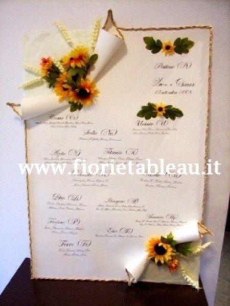 Tableau Matrimonio Girasoli : Tableau foto ricevimento di nozze