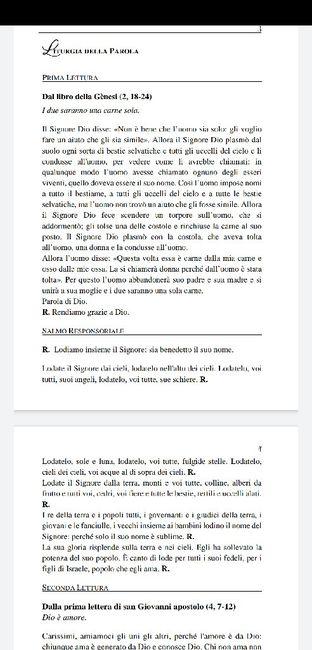 Scelta delle letture. 1