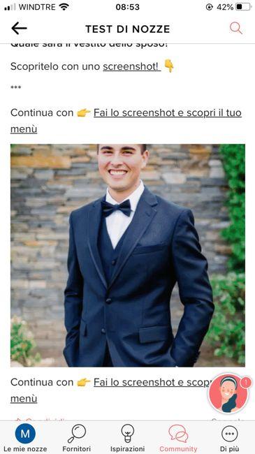 Fai lo screenshot e scopri il vestito dello sposo 8