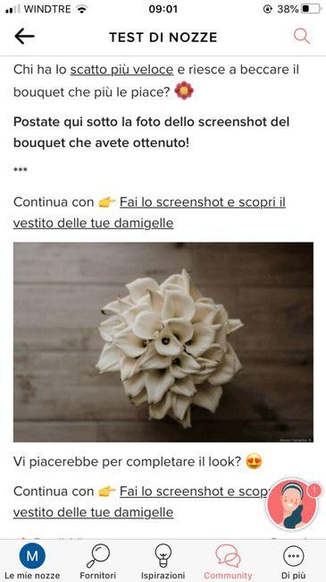 Fai lo screenshot e scopri il tuo bouquet 7