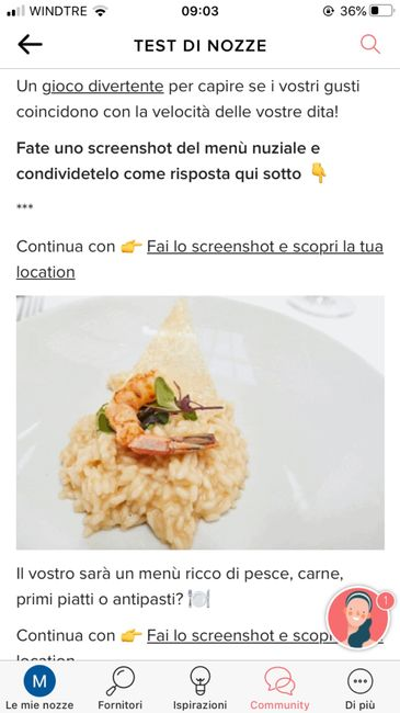 Fai lo screenshot e scopri il tuo menù 8