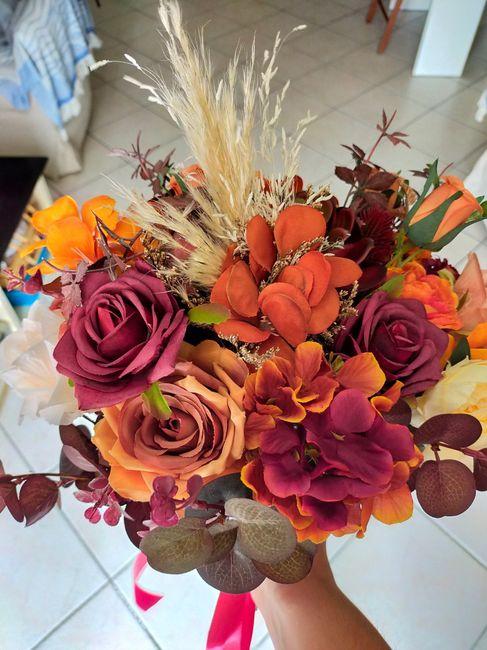 Bouquet fiori finti o veri 1