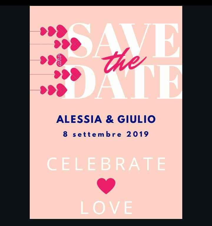 Mi fate vedere i vostri Save the date? - 1
