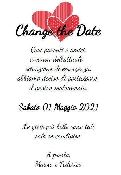 Testo change the date, cambio data 5
