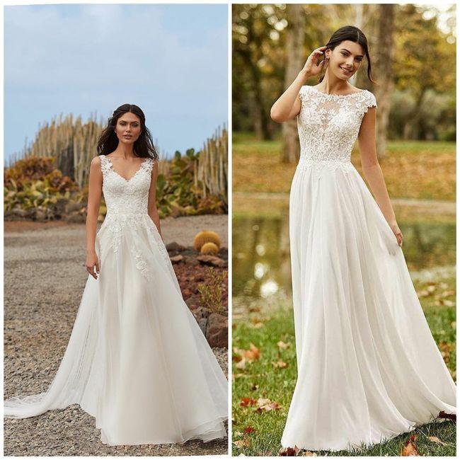 Preferite l'abito con lo strascico oppure senza? 1