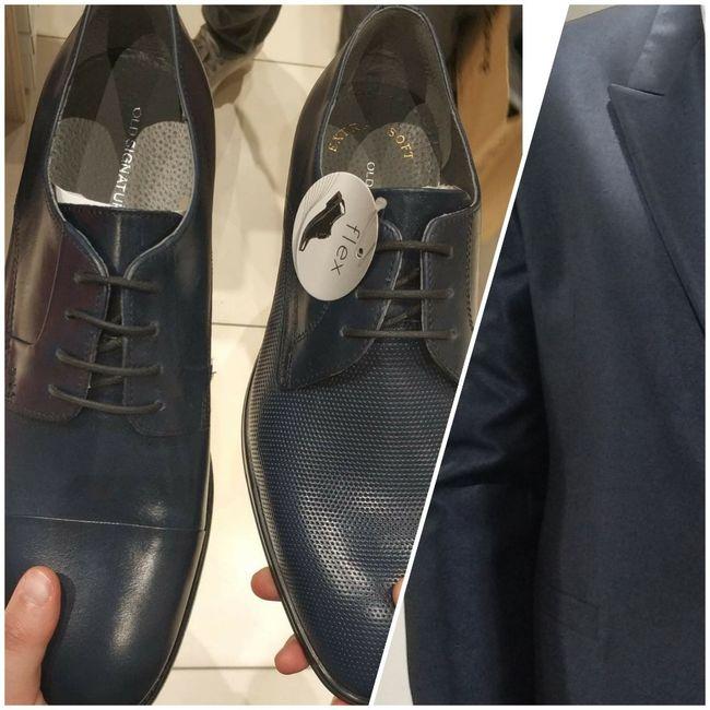 Scarpe sposo blu - 1