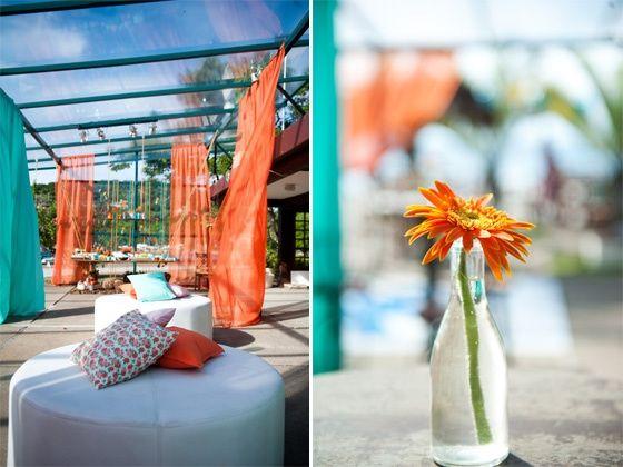 Matrimonio Azzurro E Arancione : Decorazione arancione azzurro página ricevimento