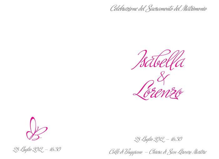 Favoloso Libretti messa pronti da stampare - Organizzazione matrimonio  GG38