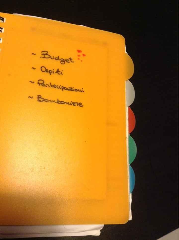 La mia agenda del matrimonio...e voi dove annotate tutta l'organizzazione? - 1