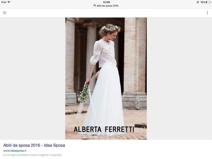pretty nice a29f1 3d8c8 Prezzo abito alberta ferretti - Moda nozze - Forum ...