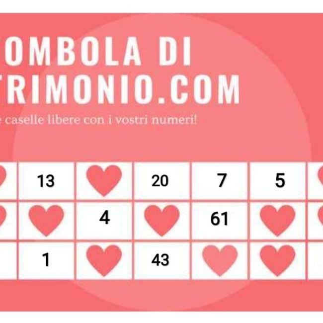 Gioca con i tuoi numeri alla Tombola di Matrimonio.com 3