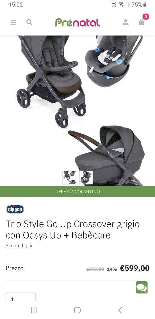 Chicco trio stylego - 1