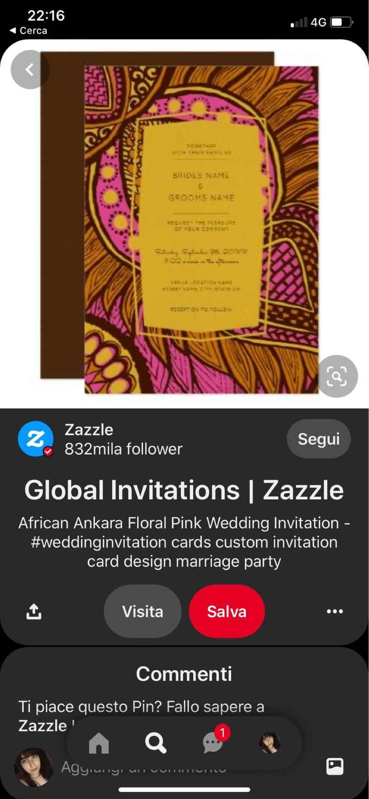 Partecipazioni matrimonio civile in stile africano - 1
