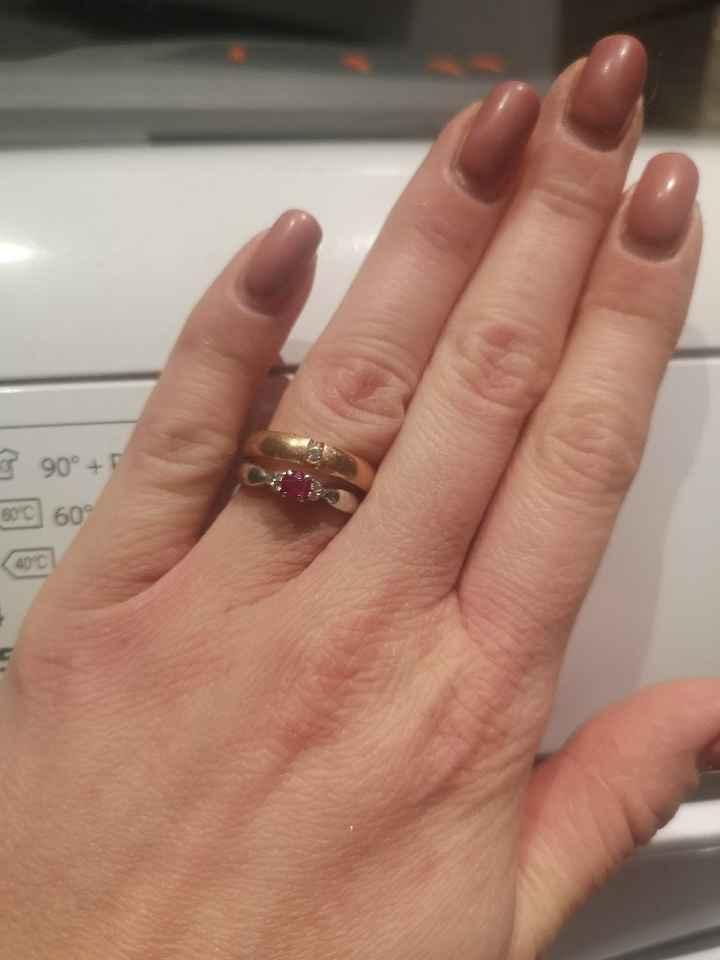 fede nuziale e anello di Fidanzamento. - 1