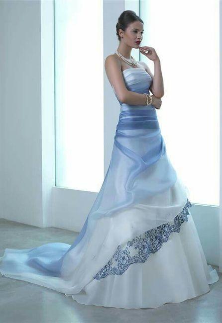 Trucco Matrimonio Abito Azzurro : Vestito sposa colorato lombardia forum matrimonio