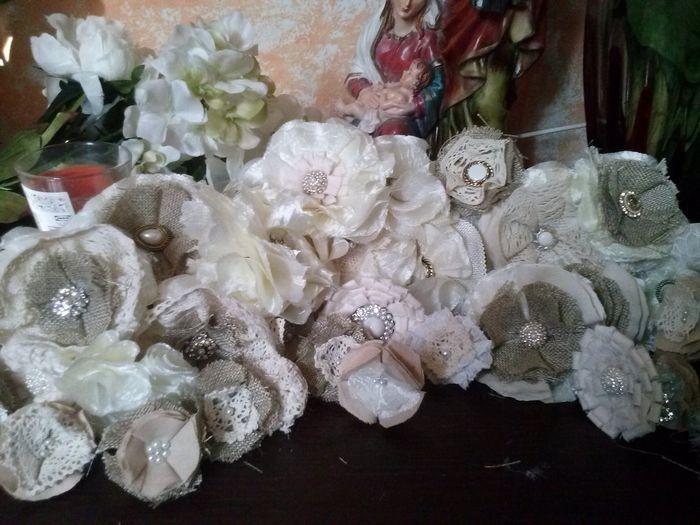 Bouquet shabby fiori di stoffa retr fai da te forum for Fiori di stoffa shabby chic