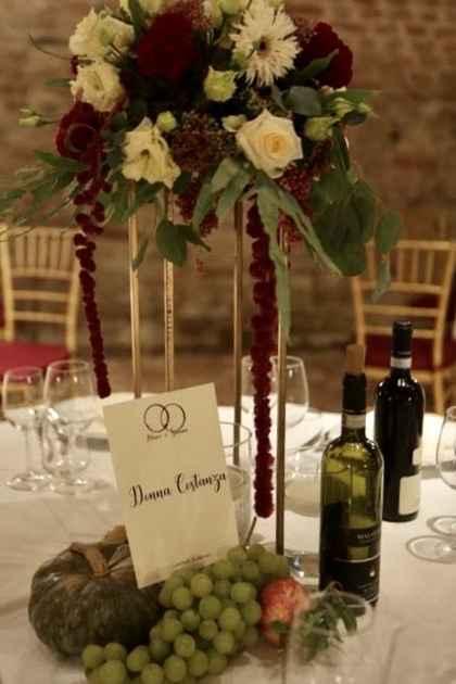 Centro tavola Tema vino/autunno - 2