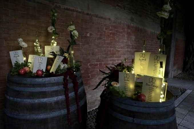 Centro tavola Tema vino/autunno - 3