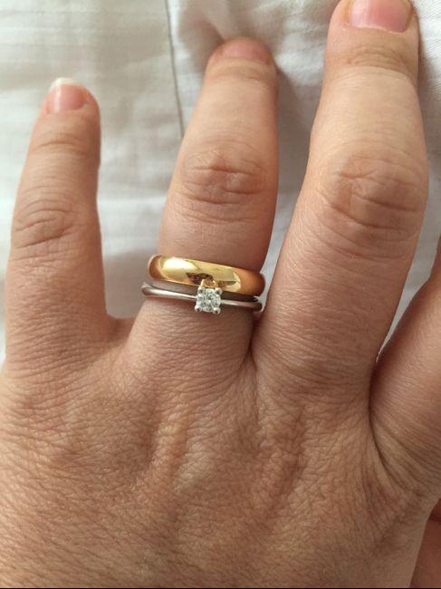 recherche d'authentique beauté en ligne Anello di fidanzamento e fede insieme mi fate vedere i ...
