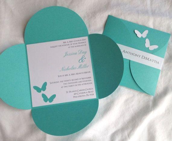 Petal Fold Invitations is adorable invitation layout
