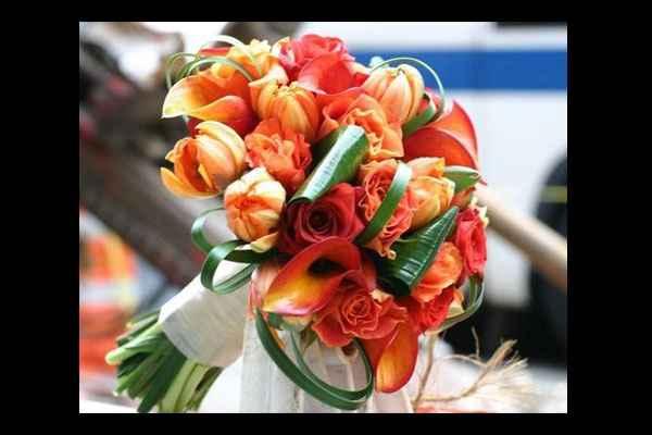 bouquet arancione