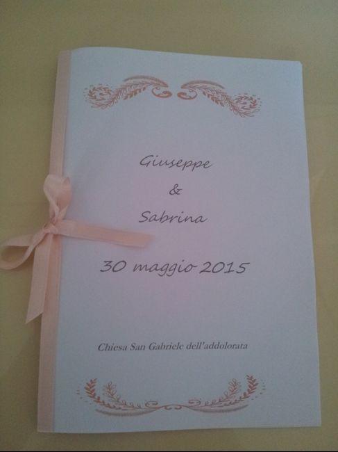 Extrêmement Indecisa sui libretti messa - Fai da te - Forum Matrimonio.com BJ01